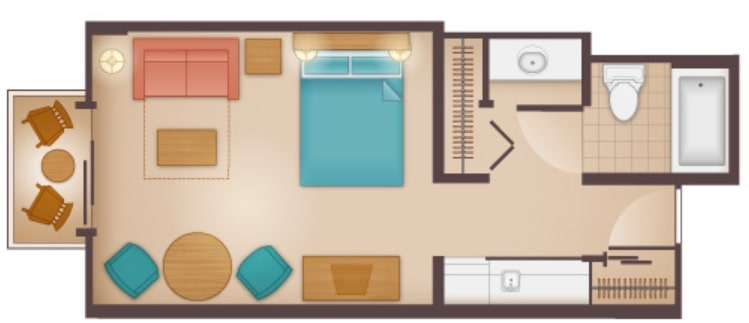 Disneys Beach Club Villas Floorplan Studio a